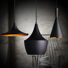 3pcs/pack Black New ABC(Tall,Fat and Wide) Design by tom dixon copper shade musical pendant lamp Beat Light