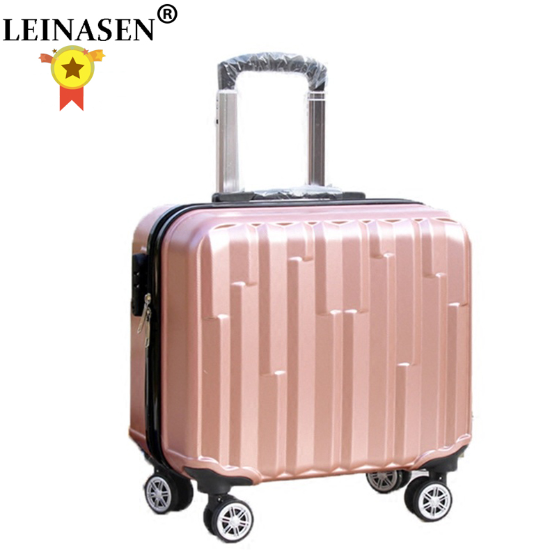 HOT 18 Inches Girl Boy ABS Pull Rod Box Students Trolley Case Child Travel Luggage Rolling Suitcase Women Business Boarding Box