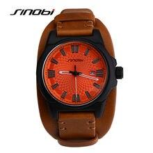 2016 Nueva SONOBI Moda Reloj de Los Hombres Correa de Cuero Relojes Para Hombre de Primeras Marcas de Lujo Hombres Reloj de Cuarzo Reloj Relogio Masculino
