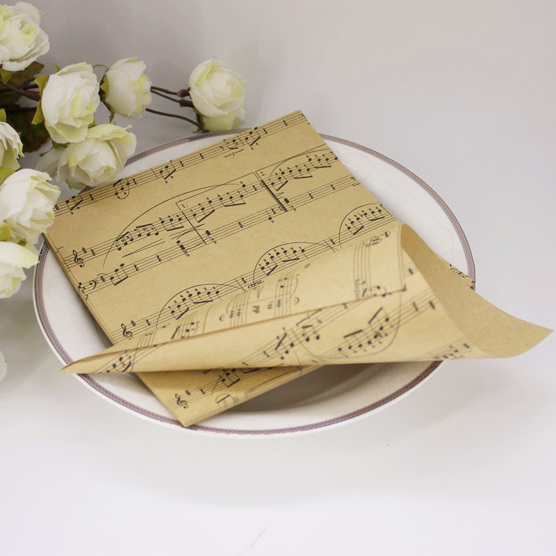 50pcsset diy handmade kraft paper musical note candy boxes flower 50pcsset diy handmade kraft paper musical note candy boxes flower cones holder ice cream wedding table decor party gift box in gift bags wrapping mightylinksfo