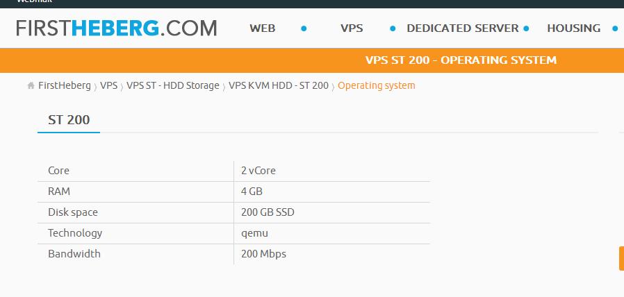 羊毛党之家 FirstHeberg:€1.99/月/1GB内存/20GB SSD空间/不限流量/200Mbps/KVM/法国  https://yangmaodang.org