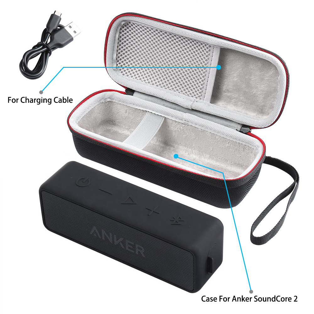 New EVA Speaker Protective Case Cover Portable Carrying Storage Box Bag Pouch for ANKER SoundCore 2 Bluetooth Speakers Soundbox