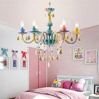 Современные Радуга светодио дный подвесные светильники для Гостиная сладкие девочки комната Детская подвесные светильники для домашнего