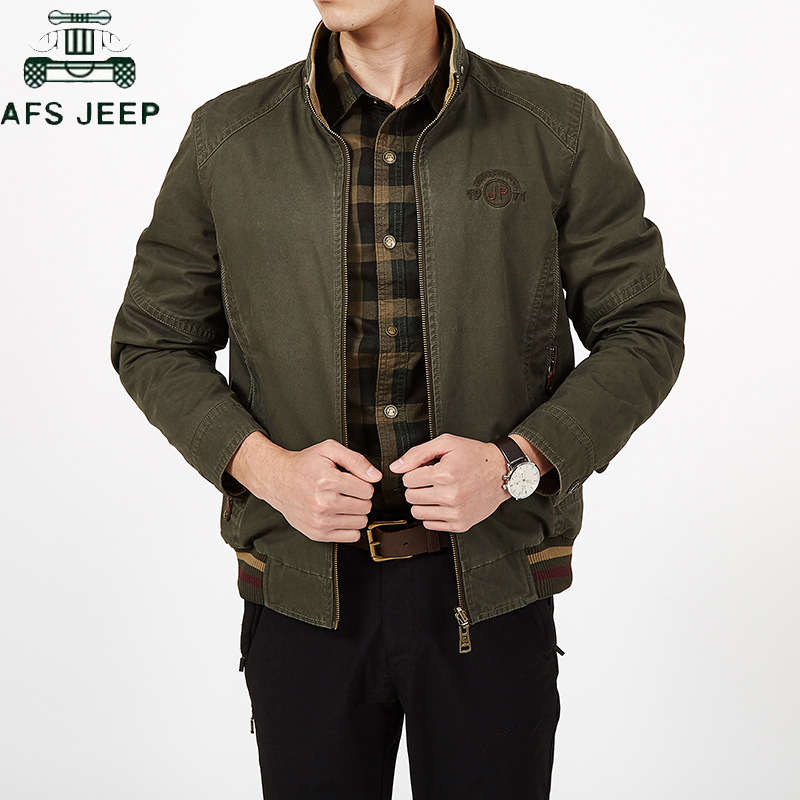Jacket Men 2018 Winter New Oversize Zipper Thick Outerwear Coats Fashion Wool Blended Fabric Men s