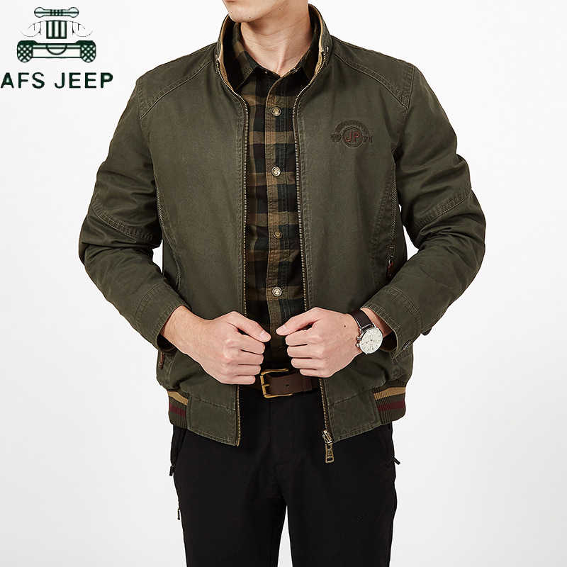 Plus Size 7XL 8XL Autumn Winter Double-sided Wear Casual Mens Jackets Coats Pure Cotton Military Jacket Male Jaqueta masculina