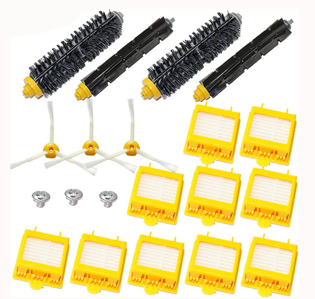 High Quality Bristle Brush Flexbile Beater Side Brush Hepa Filter kit for iRobot Roomba 700 Series 770 780 790(China)