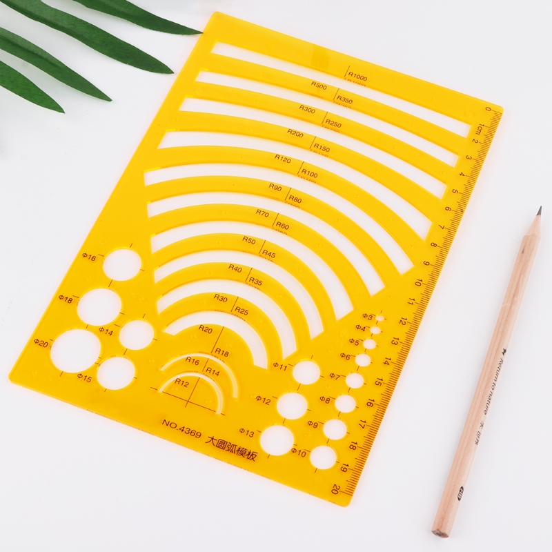 K Resin Drawing Ruler Template Measuring Tool Stencil Student School Stationery in Rulers from Office School Supplies