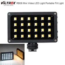 Viltrox RB08 דו צבע 2500 K 8500 K מיני וידאו LED אור נייד למלא אור מובנה סוללה עבור טלפון מצלמה ירי סטודיו