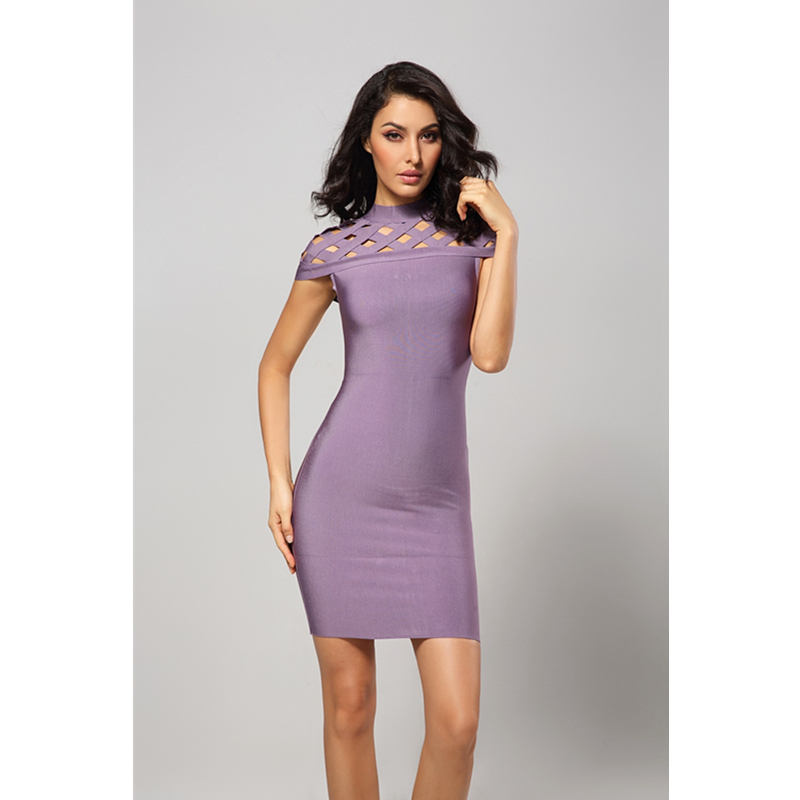 Leger Babe Elegant Bodycon Dress Women Cocktail Bandage Dress 2018 Hollow  Out Short Sleeve Mini Sexy Celebrity Party Dresses-in Dresses from Women s  ... a61e0432d73d