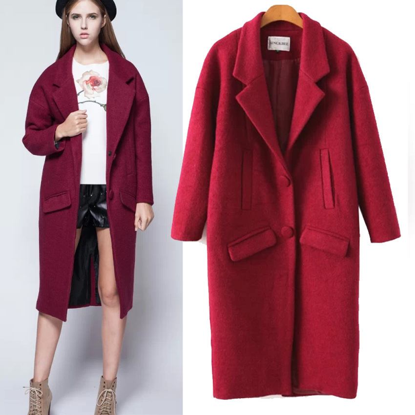 Ladies Woolen Jacket 2015 New Fashion Autumn And Winter Wool Coat ...