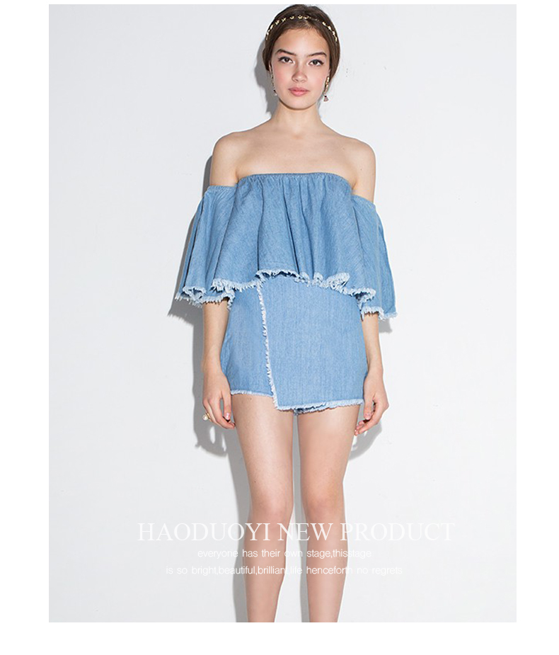 HTB1gkBuRXXXXXcTXFXXq6xXFXXXM - Slash-Neck Off Shoulder Tops Fashion Denim Shirts JKP190