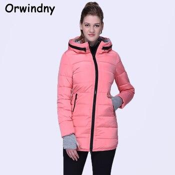 Orwindny Wadded Clothing Female 2018 New Women's Winter Jacket Cotton Jacket Slim Parkas Ladies Coats XS-XXL