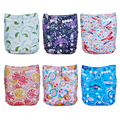 Best Workmanship ( 5 pieces A lot ) My Choice Baby Cloth Diapers Reusable Diaper Cover New Patterns+5pcs Free Microfiber inserts