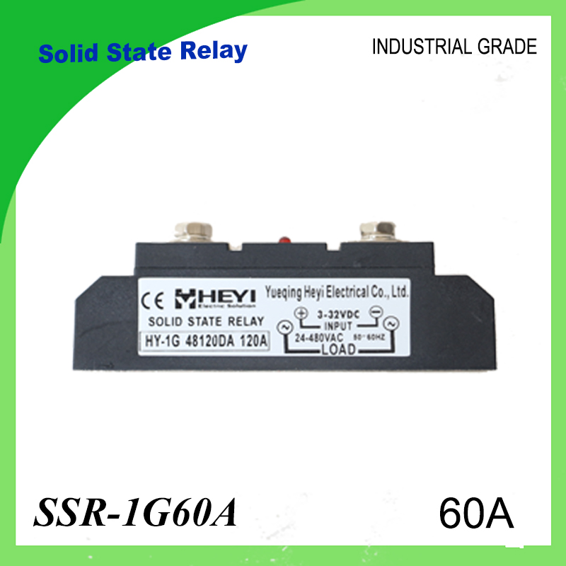 SSR-60A Solid State Relay 60A Industrial 24-480VAC 3-32VDC(D3) 70-280VAC(A2) High Voltage Relay Solid State Relays SSR 60A