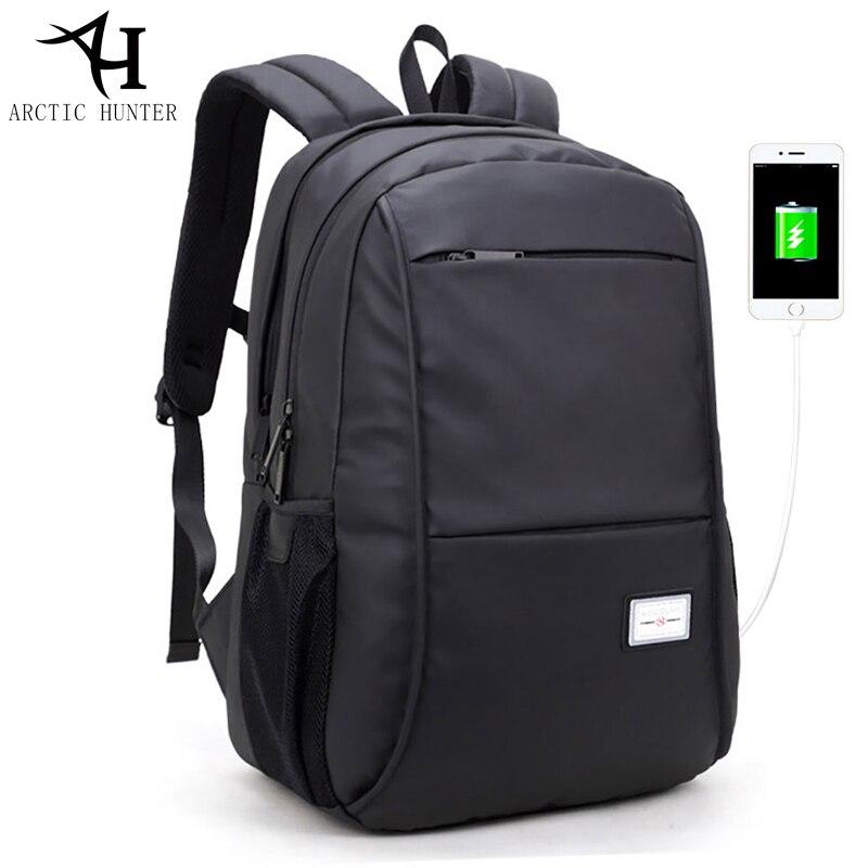 Hommes ordinateurs portables d'entreprise sac à dos étanche Usb chargeur sac à dos 15.6 pouces décontracté voyage noir dos mâle grande capacité sacs D0113
