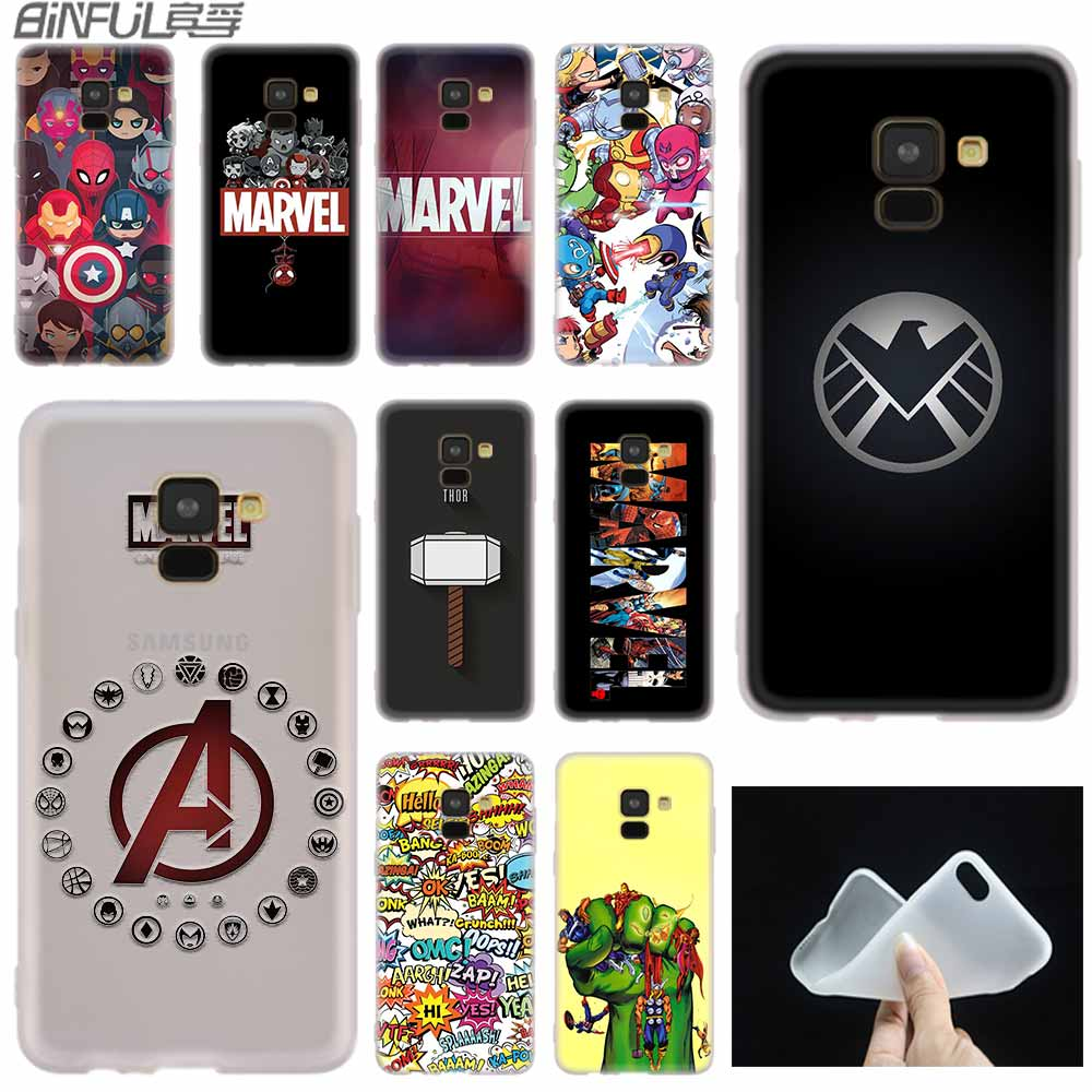 Luxury <font><b>Marvel</b></font> Comics <font><b>logo</b></font> <font><b>case</b></font> Silicone cover For <font><b>Samsung</b></font> A50 A70 A80 <font><b>A30</b></font> A40 A90 A6 A8 A9 A7 A5 A3 Plus 2018 2017 2016 Star image