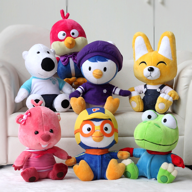 7pcs/lot 20cm Pororo Little Penguin Petty Eddy Crong Loopy Poby Plush Stuffed Toys Doll Soft Animals Toy Gift for Children Kids stuffed animal 44 cm plush standing cow toy simulation dairy cattle doll great gift w501