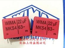 2019 hot sale 4pcs/10pcs German capacitor WIMA MKS4 63V 22UF 63V 226 22U P: 27.5mm Audio capacitor free shipping 100pcs a 10v 22uf a 226 3216 a smd tantalum capacitor