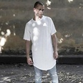 Uwback 2017 New Summer Arc Hem Long T Shirt Men Kanye Casual Loose T-shirt Men Plus Size Streetwear Tees Hip Hop Tops CAA397