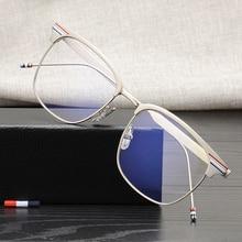 Высококачественные металлические квадратные оправы для очков от бренда Tom для мужчин и женщин, Простые солнцезащитные очки с покрытием для путешествий, рыбалки, TB104, для чтения