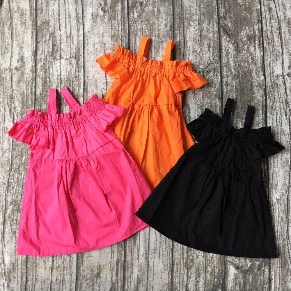 baby girls spring summer solid waven cotton dress boutique all-match clothing kids wear fringe multi color mint hot sale