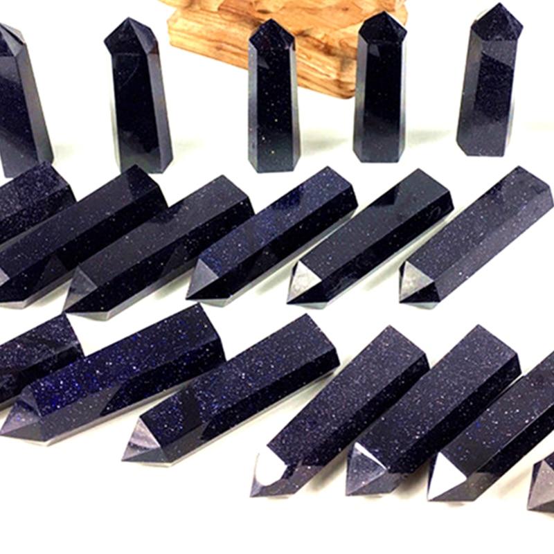 1000g Natural Blue sandstone quartz crystal point wand obelisk reiki healing energy gemstone for home Wedding decora in Stones from Home Garden