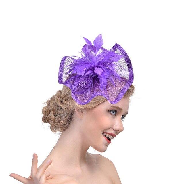 c55cff8afdd White Black Red Birdcage Net Wedding Hats Bridal Fascinator Linen Feather  Flower Net Yarn Hat Bridal