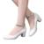 Nuevo 2017 Las Mujeres de la Hebilla Tacones Altos Mujeres Bombas Del Partido Novia Sexy Talón Grueso Del Dedo Del Pie Puntiagudo Zapatos de Tacón Alto para niñas