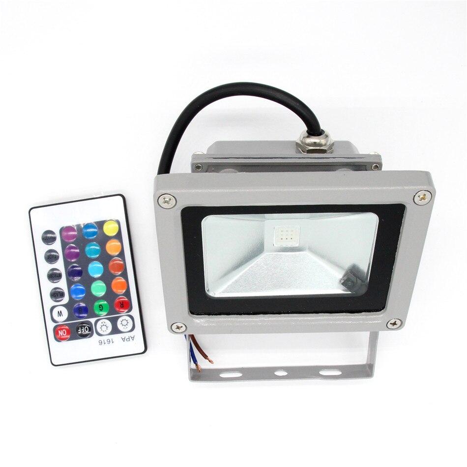 Новый Открытый RGB теплый белый Светодиодный прожектор 10 Вт 20 Вт 30 Вт 50 Вт 100 Вт настенный светильник высокая мощность сада