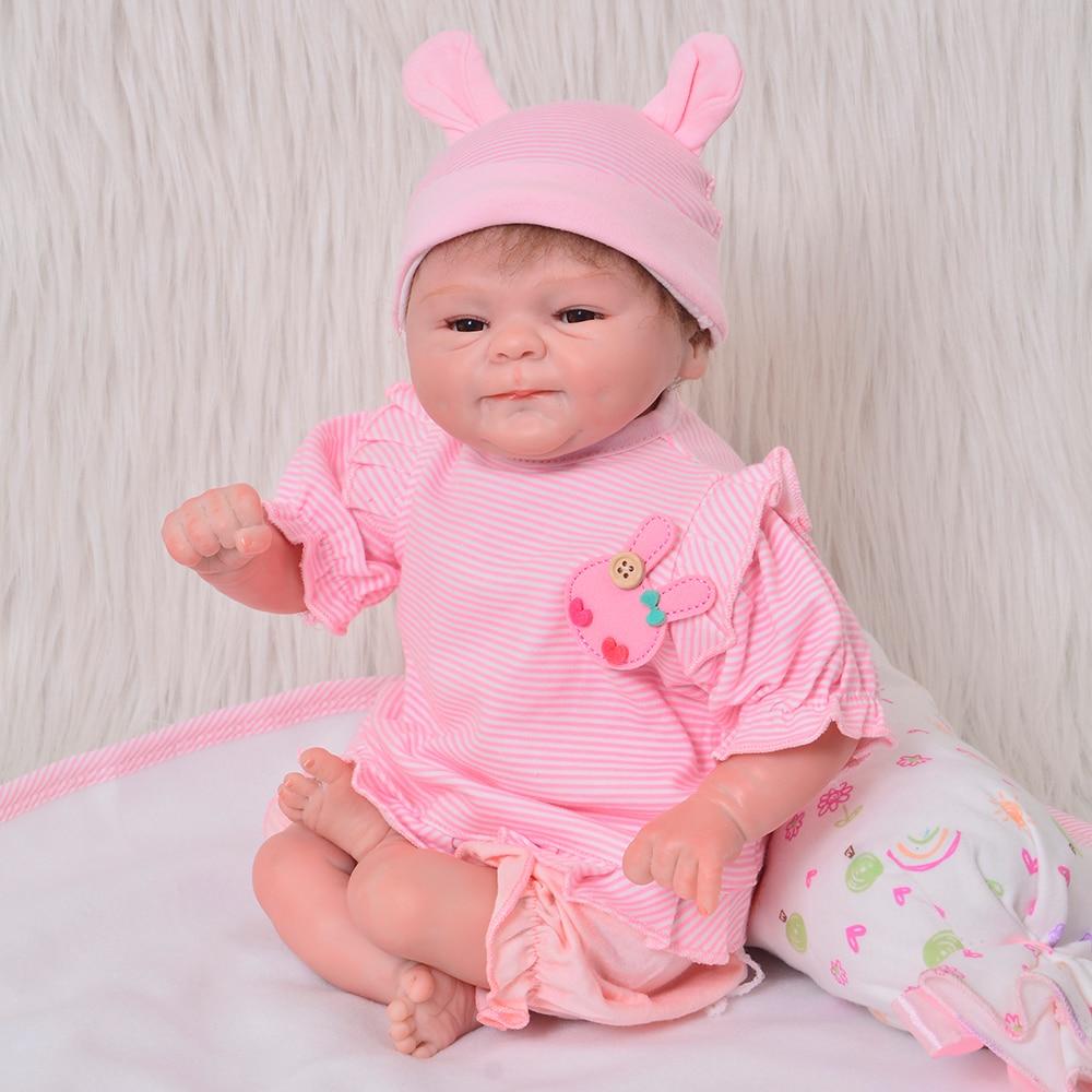 Oyuncaklar ve Hobi Ürünleri'ten Bebekler'de Güzel 17inch 42CM Yumuşak Silikon Yeniden Doğmuş Bebekler Bebek Kız El Yapımı Gerçekçi Yenidoğan Bebek Bebek Oyuncak Çocuklar Için Doğum Günü hediyeler'da  Grup 2