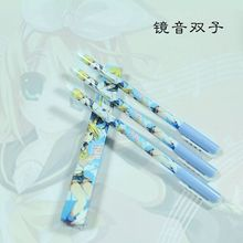 6pcs Japanese anime  Cute creative ,Kagamine Rin black Gel pen signing pen Anime around Each  is individually packaged