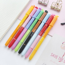 8 pcs Metal fine tip color pen 2 in 1 stamp seal highlighter marker Dual-side writing Stationery Office School supplies DB775