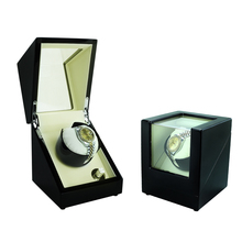 Watch Winder ,LT Wooden Automatic Rotation 1+0 Watch Winder Storage Case Display Box (Outside and inside are white)