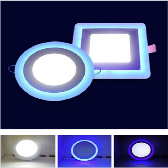 New Led Panel Downlight 6w 9w 16w 3 Model Lamp Light Double Color