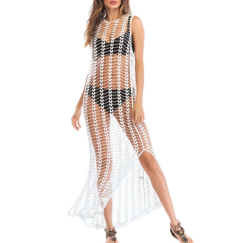 Ladies Bathing Swimsuits Bikini Hollow Wrap Pareo Cover Up Beach Dress YS-BUY 4