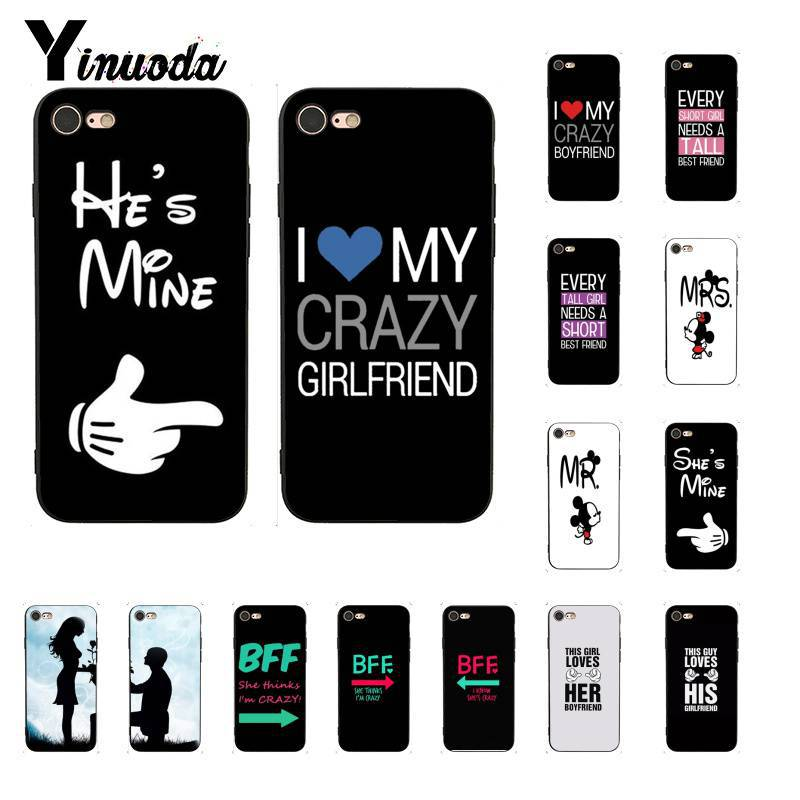 Yinuoda Mr. and Mrs couple <font><b>BFF</b></font> DIY Printing Drawing Phone <font><b>Case</b></font> for <font><b>iPhone</b></font> 8 7 6 6S Plus X XS MAX 5 5S <font><b>SE</b></font> XR 11 11pro 11promax image