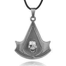 Модные украшения убийца череп Creed Цепочки и ожерелья подвеска Скелет Ожерелья для мужчин колье долго Chian повседневной бижутерии для Для женщин Для мужчин подарки