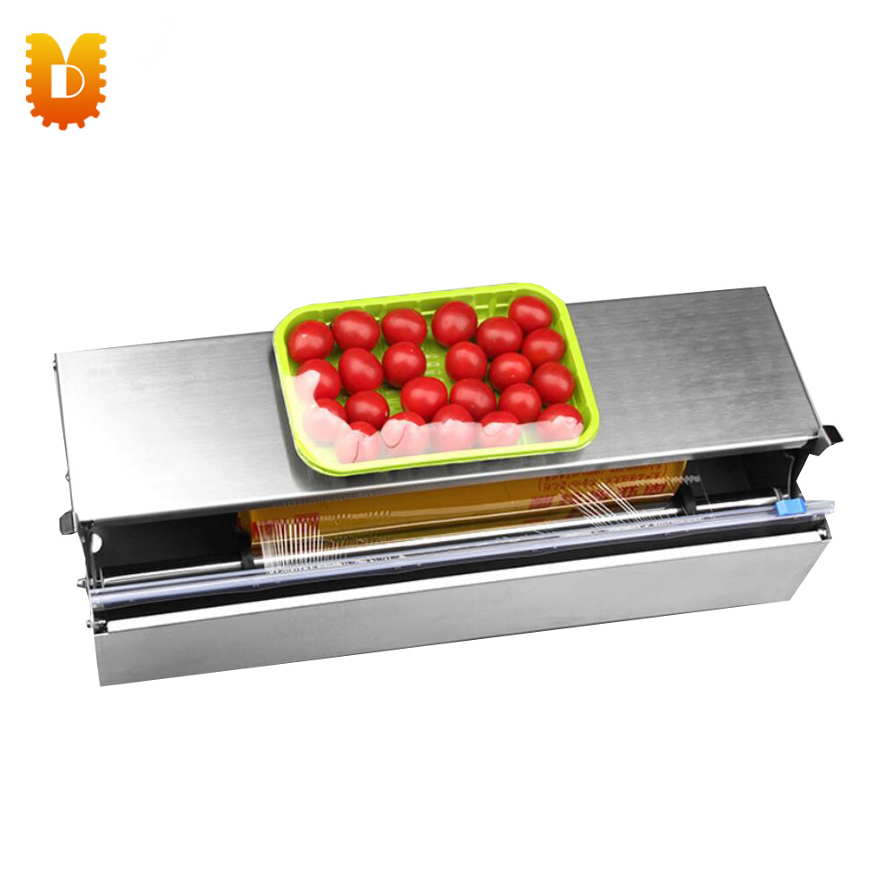Home Supermarket Use Food Preservative Film Sealing Machine Plastic Wrap Sealing Machine plastic film sealing strong sealing seam machine vertical sealing date printing seal belt 0805005l