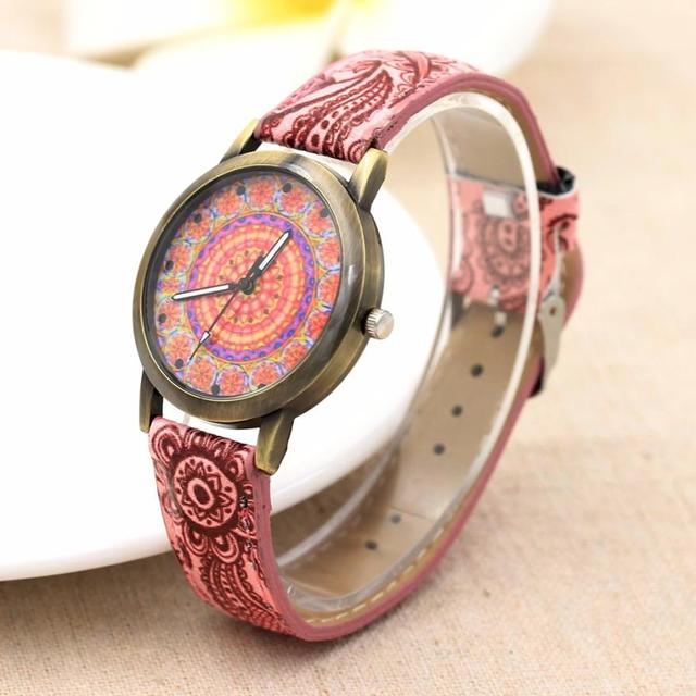 Xiniu watches woman clock luxury Color Strap Leather Band Digital Dial Quartz An
