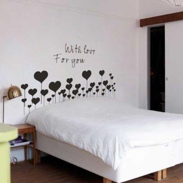 Mode Belle Tête De Lit Avec Amour Pour Vous Sticker Mural