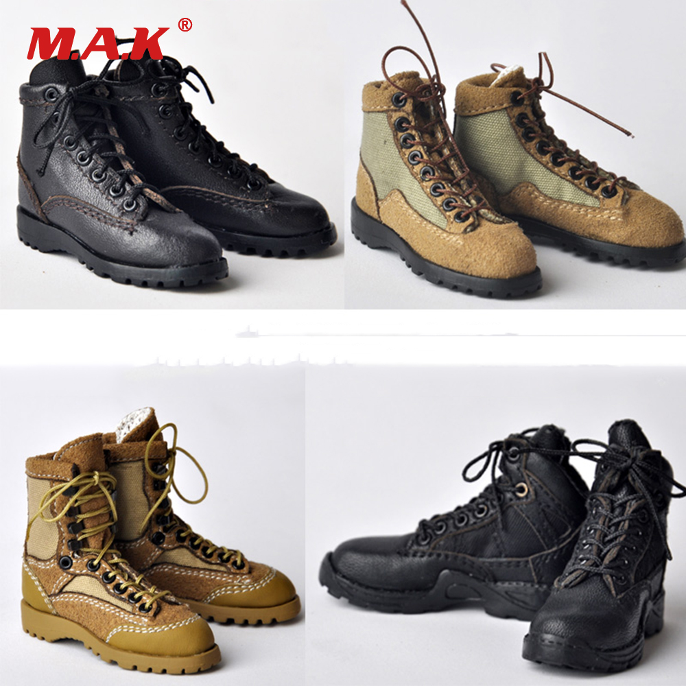 1/6 Male Shoes Hollow Inside Brown/Black Cloth Straps Combat Shoes Boots Without Feet Inside for 12 Man Figure Body