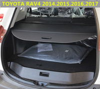 Car Rear Trunk Security Shield Cargo Cover For TOYOTA RAV4 2013.2014.2015.2016.2017 High Qualit Black Beige Auto Accessories