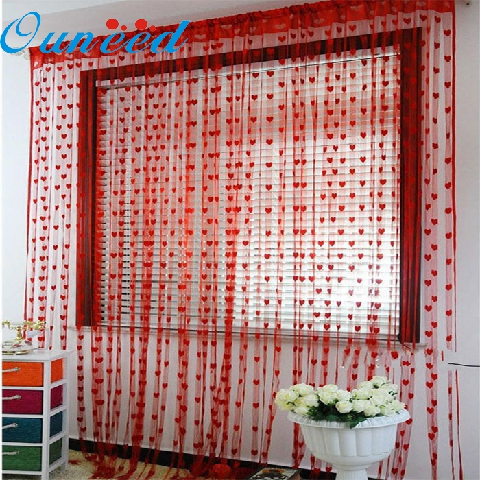 Cute Heart Line Tassel String Door Curtain Window Room Curtain Valance 100% brand Free Shipping Oct21