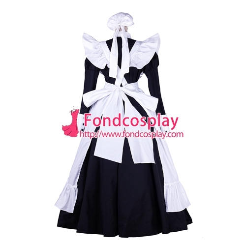 lockable Sissy maid Cotton dress Uniform cosplay costume Tailor-made[G1753]