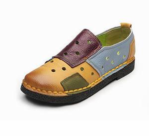 Image 3 - Женские лоферы из натуральной кожи GKTINOO, Модные Разноцветные Повседневные туфли ручной работы, мягкая удобная обувь на плоской подошве