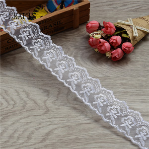 Image 4 - 10 yards  Lace Tape Embroidered Pure Lace Trimmed Cloth For Wedding Decoration Home DIY Handmade Embroidery Intimate Accessories