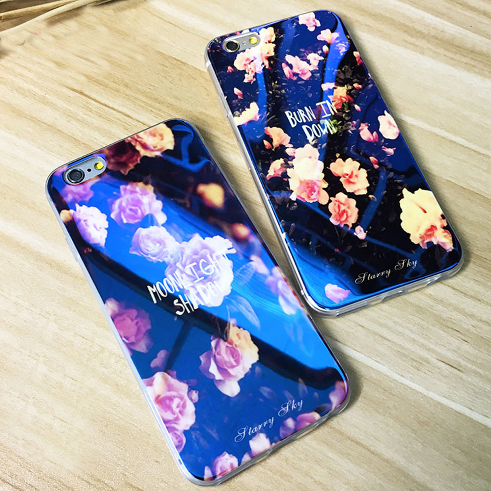 FLOVEME Soft Silicone Cases For iPhone 5 5S Case Blue Ray Print Stars Case For iPhone 7 6S 6 Plus 7 8 Plus 5S SE Cover