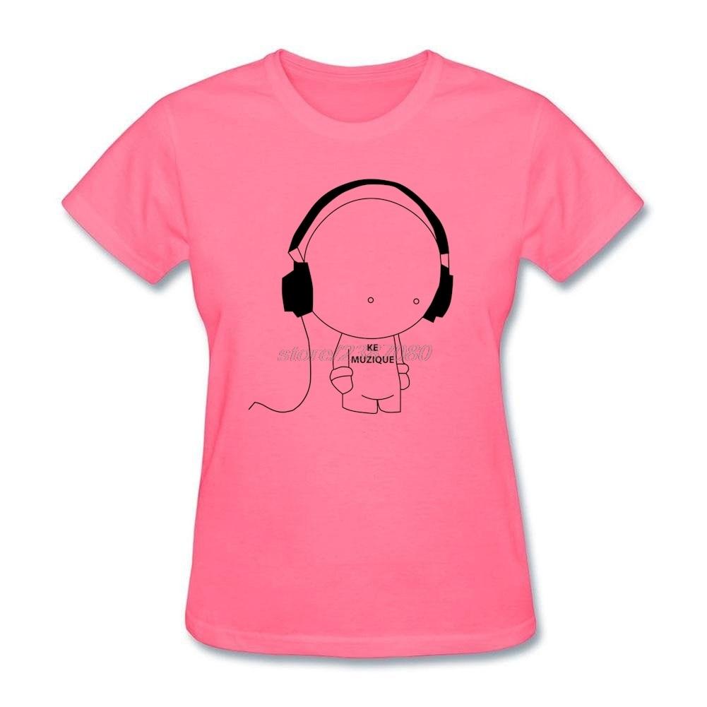 Design t shirt murah - Celana Pendek Kemeja Ukuran Besar Musik Ke Muzique Headphone Remaja Pra Kapas Lengan Pendek T