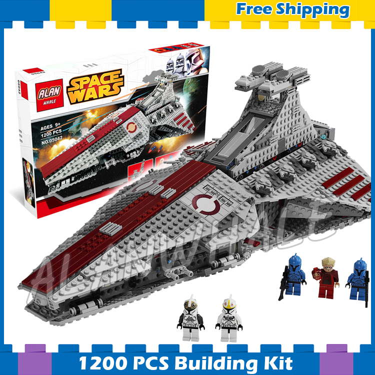 1200pcs Space Wars Venator-class Republic Attack Cruiser 05042 Model Building Blocks Assemble Gifts Sets Compatible With Lego 957pcs space wars jedi defender class cruiser universe starship 05085 model building block toy bricks games compatible with lego