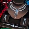 HIBRIDE Charm 5 Colors Full CZ Stone Jewelry Sets For Women Bridal Wedding Sets 4 Pcs